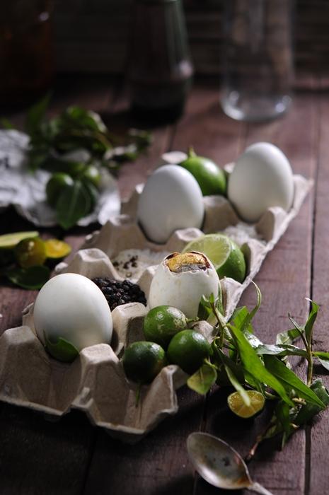 Hot vit lon Vietnamese ingredients porfolio egret grass food stylist Món ngon từ trứng vịt lộn