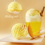 Mango ice cream - Food Styling: Egret Grass - Photograph by: Rong Vang