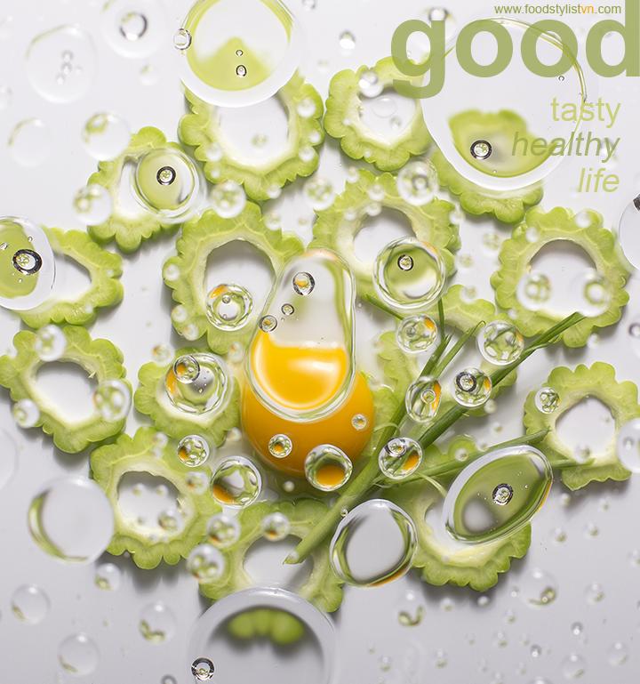 Khồ qua và trứng - Food Styling: Egret Grass - Photograph by: Nguyen Quang Trung
