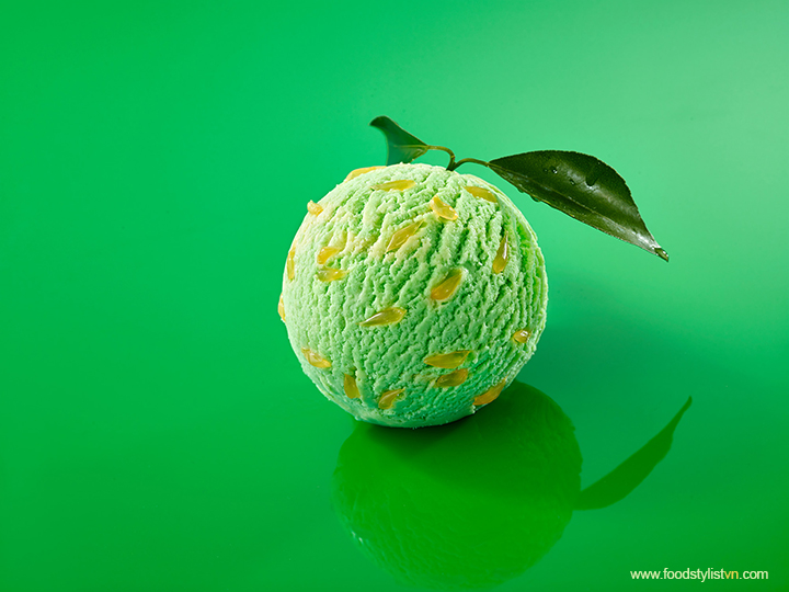 Lime Ice Cream Food Styling: Nguyên – Photograph by: Wing Chan @Bite Studio