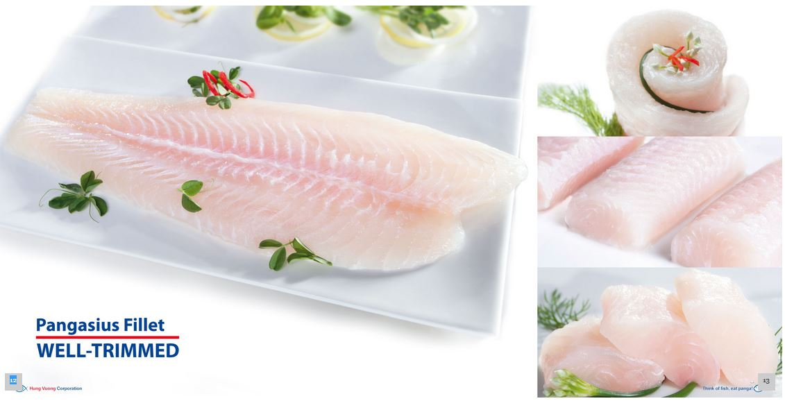 Cá basa fillet well trimmed Client: Hung Vuong Corporation Food Stylist: Nguyên Photograph by: Lam Chieu
