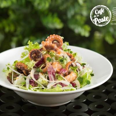 Octopus Salad at Cafe De La Poste