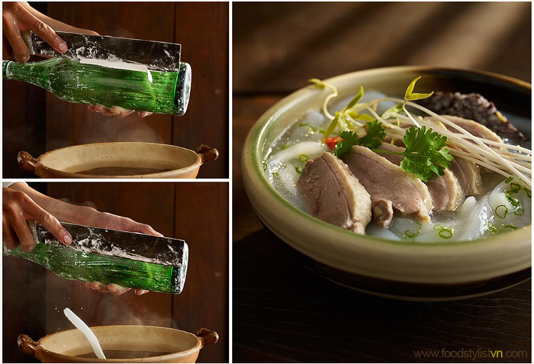 Banh canh bột gạo xắt Client: Phương Nam Book Photograph by: Wing Chan at BITE Studio Food & Prop Stylist: Tiến Nguyên